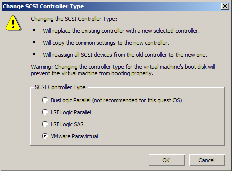Setting the SCSI Controller Type