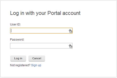 Portal Login Portlet